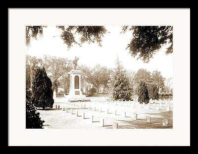 Confederate Monument Drawings Framed Prints