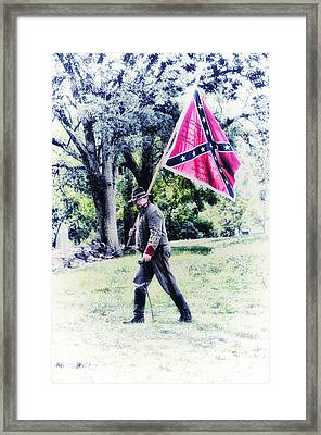 Confederate Soldier Framed Print