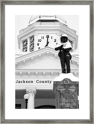 Confederate Soldier Statue 2014 Framed Print