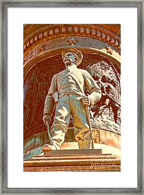 Confederate Soldier Statue I Alabama State Capitol Framed Print by Lesa Fine