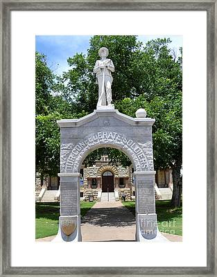 Confederate Soldier Statue Framed Print by Ruth  Housley