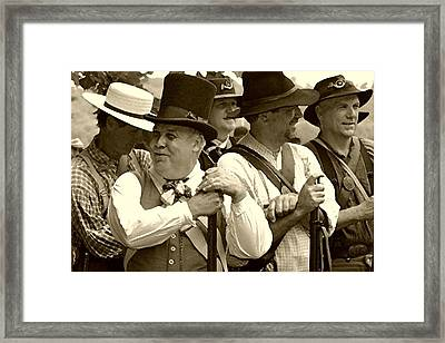 Confederate Soldiers At Ease - Brandenburg Ky Framed Print by Thia Stover