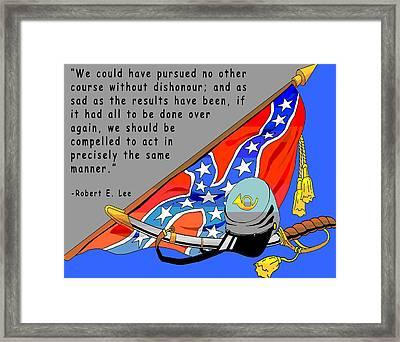 Confederate States Of America Robert E Lee Framed Print