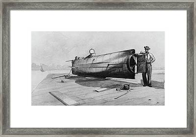Confederate Submarine H. L. Hunley Framed Print by Us Navy