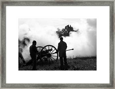 Confederate Twelve Pounder Fired - Perryville Ky Framed Print