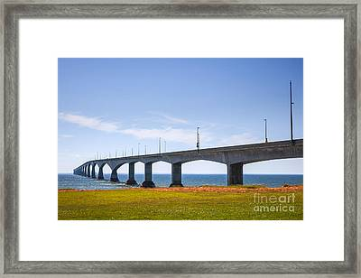 Confederation Bridge Framed Print by Elena Elisseeva