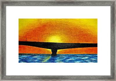 Confederation Bridge Framed Print