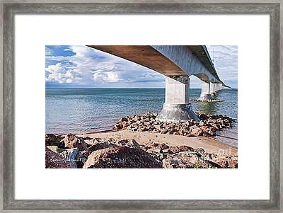 Confederation Bridge Framed Print by Leona Arsenault