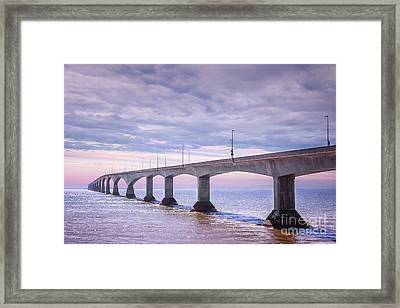 Confederation Bridge Sunset Framed Print by Elena Elisseeva