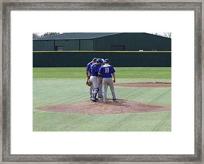 Conference On The Mound Framed Print by Jeff Tuten