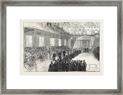 Conferring Degrees In The Senate House, Cambridge Framed Print