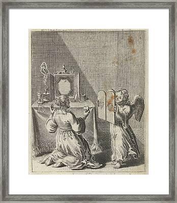 Confession For Vanity And Pride, Print Maker Pieter Nolpe Framed Print