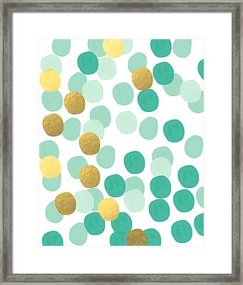 Confetti 2- Abstract Art Framed Print by Linda Woods