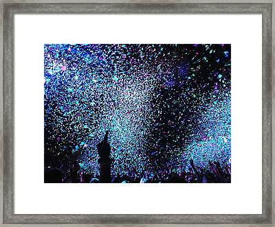 Confetti Falling On Crowd At Concert Framed Print by Natalia Martin Rivero / Eyeem