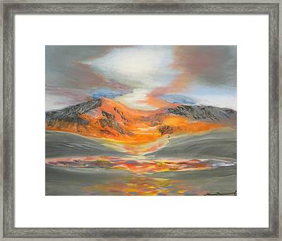 Confetti Mountain Framed Print by Tim Townsend