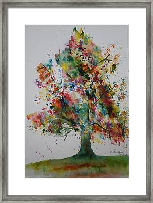Confetti Tree Framed Print by Patsy Sharpe