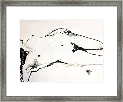Framed Print featuring the drawing Confidence by Helen Syron