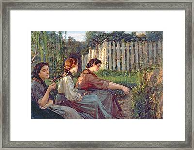 Confidences Framed Print by Cristiano Banti