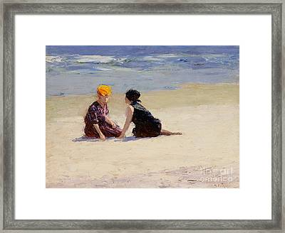 Confidences Framed Print by Edward Henry Potthast