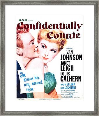 Confidentially Connie, Us Poster, Van Framed Print