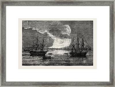 Conflagration At Varna 1854 Framed Print