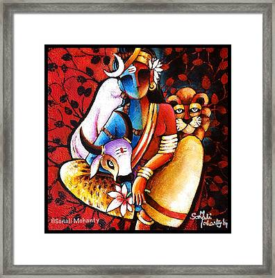 Confluence - Ardhanareshwar Framed Print