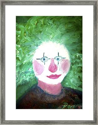 Confounded Clown Framed Print by Dane Ann Smith Johnsen