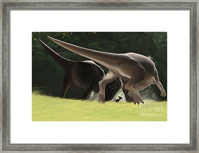 Confrontation Between Two Framed Print by Michele Dessi