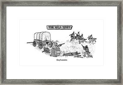 Confrontation Framed Print by William Steig