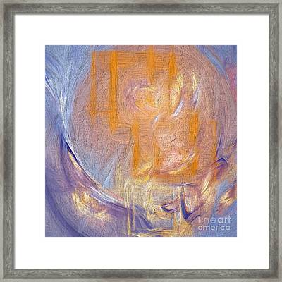 Confused Visions In Oil Cracked Fresca Framed Print
