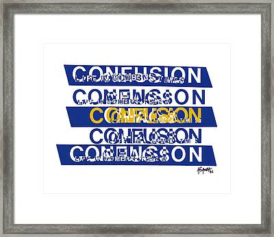 Confusion Framed Print by Agustin Goba