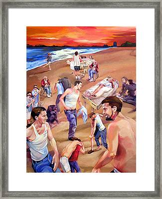 Confusion At Sunset Framed Print by Julie Orsini Shakher