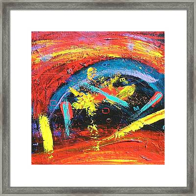 Framed Print featuring the painting Confusion by Carolyn Repka