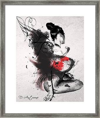 Confusion Of An Angel Framed Print by Duprel Antwone