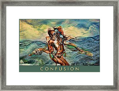 Framed Print featuring the mixed media Confusion by Tyler Robbins
