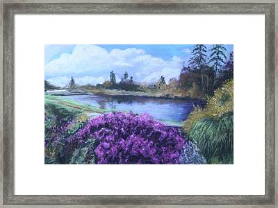 Framed Print featuring the painting Cong Ireland by Melinda Saminski