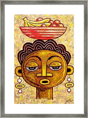Congalese Face 1 Framed Print