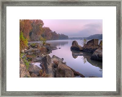 Congaree River At Dawn-1 Framed Print