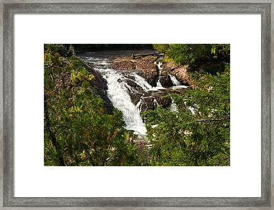 Conglomerate Falls Framed Print by Thomas Pettengill