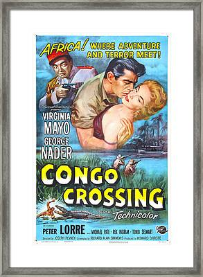Congo Crossing, Us Poster, From Left Framed Print by Everett