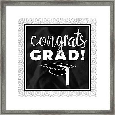 Congrats Grad! Silver Framed Print by Aubree Perrenoud