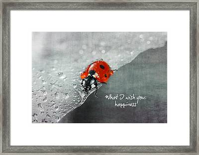 Congratulation Framed Print by Heike Hultsch