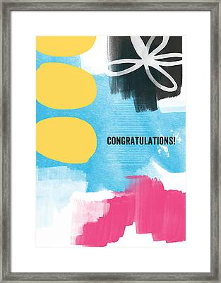 Congratulations- Abstract Art Greeting Card Framed Print