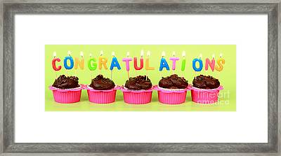 Congratulations Cupcakes Framed Print