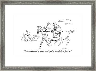 Congratulations!  I Understand You're Everybody's Framed Print by Al Ross