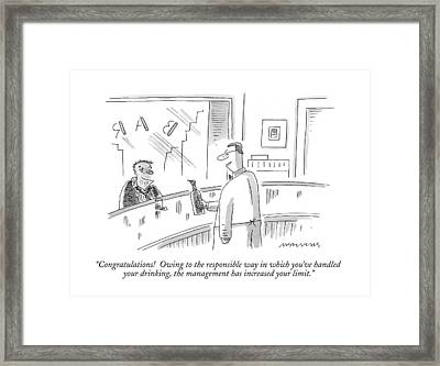 Congratulations!  Owing To The Responsible Way Framed Print