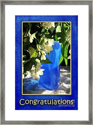 Congratulations In Blue Framed Print by Randi Grace Nilsberg