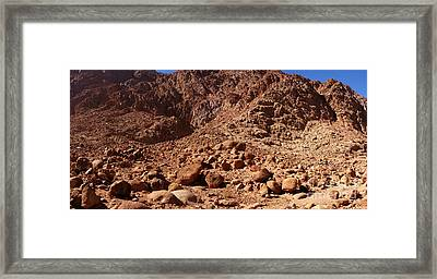 Congregation Of Stones Framed Print by Neil Pollick