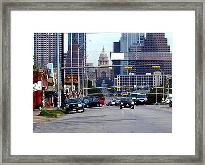 Congress Ave To The Capital Framed Print