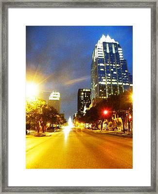Congress Boulevard Austin Framed Print